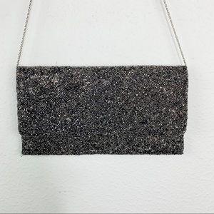 Moyna Couture Metallic Beaded Clutch Purse C426
